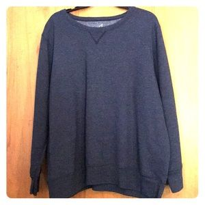 Navy blue and grey pullover sweaters!